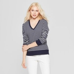 A New Day Striped Long Sleeve Pullover